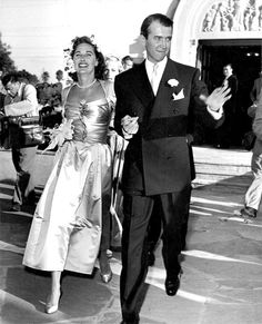 Jimmy Stewart's wedding, 1949