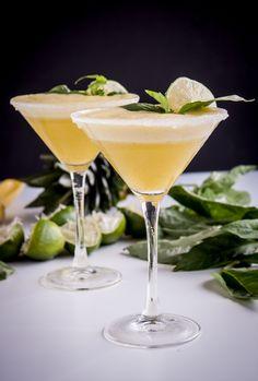 Pineapple-Basil Rum Fizz