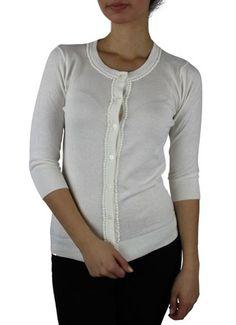 $7.99 nice LnLCLothing 3/4 Sleeve Cardigan ID.5348-WHT.FL