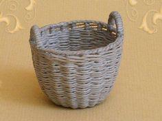 WC/310, wicker storage basket, scale 1 : 12, made by Will Werson.
