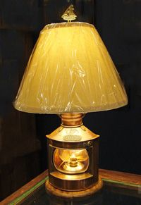 Vintage Copper Starboard Nautical Table Lamp is a great look for your beach cottage and coastal home. Find it at SkipjackNauticalWares.com