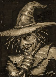 Chiaroscuro Scarecrow by Scadilla.deviantart.com on @DeviantArt