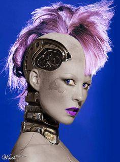 Cyberpunk, future, cyborg girl, futuristic, android girl, robot, punk girl