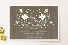 Rustic Wildflowers Bridal Shower Invitations by Kristie Kern at minted.com