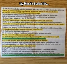 Bucket list. My faves....4,7,24 and the green ones.....