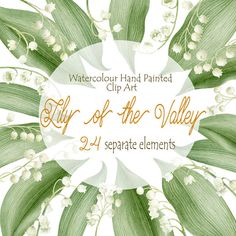 Watercolour Lily of the valley  Hand Painted by WatercolorSeasons
