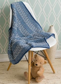 Knitting Pattern #28 Mosaic Baby Blanket | Knit Simple, Winter 2015