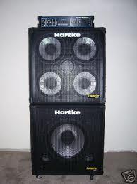 Hartke Bass amp head  410 Cab and sub woofer cab