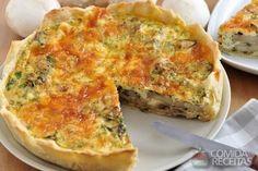 Receita de Torta de escarola com queijo em receitas de tortas salgadas, veja essa e outras receitas aqui!