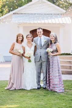 Our wonderful couple with their beautiful mothers. | The Sonnet House | Photo by Wes Roberts Photography