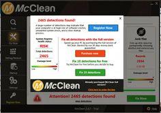Le McClean est identifié comme utilitaire d'optimisation du système qui se prétend comme un programme anti-virale. C'est cible principale est de tromper l'utilisateur de l'ordinateur pour acheter ses produits et rend les gens la