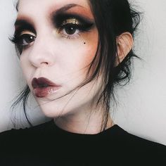 "1,327 Likes, 10 Comments - @moodymoth on Instagram: "" Makeup of the day, inspired by the John Galliano runway makeup looks by Pat McGrath . . Shadows…"""
