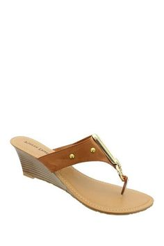 Pierre Dumas Natasha Thong Wedge Sandal by Pierre Dumas on @HauteLook