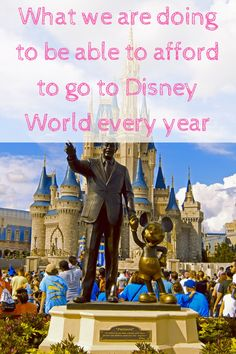 Click to find our what we are doing to be able to afford to go to Disney World every year or re-pin for later.