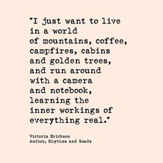 Nature, peace, beauty, learning - - sounds like a good life to me!