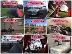 Dónde dormir de camping en Hawái ~ Mochileo Low Cost. Blog de diarios de viaje.