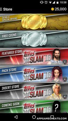 WWE SLAM: Card Trader Tips, Hack, & Cheats for Coins & All Card Sets Unlock  #Card #Sports #WWESlam:CardTrader http://appgamecheats.com/wwe-slam-card-trader-tips-hack-cheats/