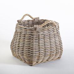 Корзина для хранения armaure ротанг серо-бежевый La Redoute Interieurs   купить в интернет-магазине La Redoute