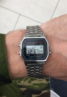 Vintage+80's+Style+Retro+Silver+Digital+Watch+