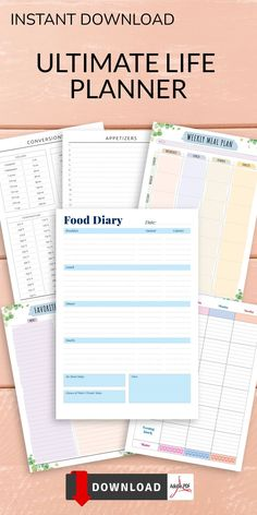 This Diet Food Track is perfect if you are following the slimming world diet plan. Write down your menu for each day, and tick off how many drinks and servings of fruit/veggies you've had. Get your perfect template now to add to your binder. #food #diary #template #meal #day Meal Planner Template, Meal Planner Printable, Free Printable, Slimming World Diet Plan, Breakfast Calories, Diet Recipes, Snack Recipes, Diary Template, Pre Wedding Party