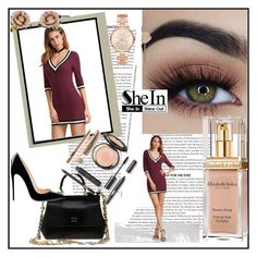 """""""shein contest"""" by muhiej ❤ liked on Polyvore featuring Dolce&Gabbana, Elizabeth Arden, Michael Kors, Les Néréides and Post-It"""