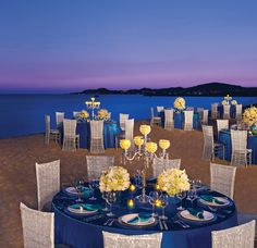Beach Wedding Reception Blue