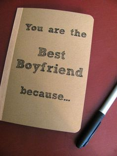 You are the Best Boyfriend because  5 x 7 by JournalingJane, $8.00