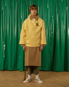 [unisex] Don't stop hoodieYellow Sold out Fashion Brand, Fashion Art, Ader Error, Camel Coat, Cropped Trousers, Androgynous, Double Breasted, Street Wear, Normcore