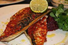 Grillowanie: Grillowana makrela z harissą Grilling, Pork, Meat, Kale Stir Fry, Pigs, Grill Party