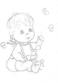 Resultado de imagem para riscos para pintura em tecido bebes