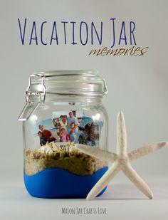 Awesome way to keep your beach memories! mason jar craft #masonjarlove #itallstartedwithpaint #refreshrestyle