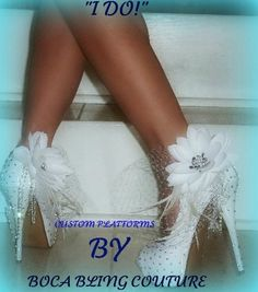Womens Custom Crystal Wedding Prom Shoes Swarovski Elements Size 8 0 | eBay