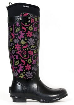 Womens Bogs Rider Plum Corsage Insulated Waterproof Rain Boots