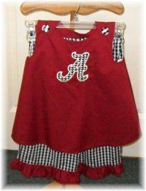 Tiny Bama clothes makes me want a baby.  Then I remember it gets big and I'm stuck with it until I die.