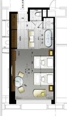 Photoshop simple plan layers ex hotel plan Design Hotel, Hotel Floor Plan, Master Room, Hotel Interiors, Room Planning, Bedroom Layouts, Suites, Lofts, Cabana