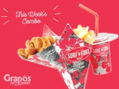 SNF Austria proudly presents Grapos Spring Collection Check out our Combo of the Week. Snack Recipes, Snacks, Spring Collection, Austria, Fries, Presents, The Originals, Check, Food
