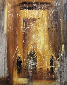 John Piper British / Reims Cathedral, Marne, France, painted oil on canvas laid on panel Reims Cathedral, Edward Hopper, John Piper Artist, Cityscape Art, Art Nouveau, A Level Art, Street Art, Collage, Art Sketchbook