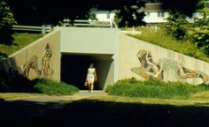 Reston, Virginia features a series of underpasses that promote travel on foot throughout the community.