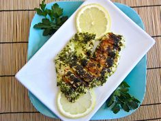 Quick Lemon Garlic Fish - Budget Bytes - Delightful! Light and delicious served over with spinach with mashed potatoes (with butter, salt, soy milk and a little lemon juice)