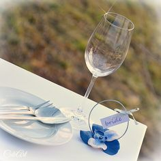 Wedding place tags - Orchid #handmade #nametag #wedding #orchid #weddingfavor