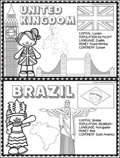 Social Studies Worksheets, Worksheets For Kids, Coloring Worksheets, Preschool Education, Preschool Activities, Continents And Oceans, Countries And Flags, Maps For Kids, Teaching Geography