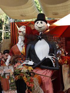 Jack Skellington and Sally at the Halloween Carnival at Big Thunder Mountain in Disneyland