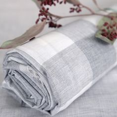 linen, fabric, gingham check grey, cotton, linencloset, lifestyle, grey, natural