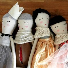 This listing is for a custom one of a kind handmade cloth doll measuring 50cm (approx 20 in).  These are photos of dolls I have already made.