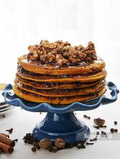Korzenne placki z dyni - Pancakes #Pancakes #placki #dynia #najsmaczniejsze #food #cake