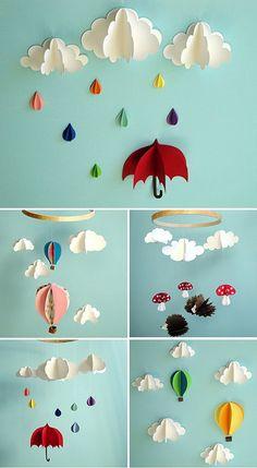 cute paper mobile