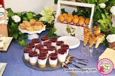 Shots de crema de queso con galletas y arándanos Lesnuzparty