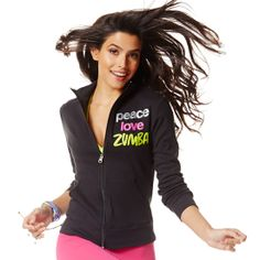 Peace, Love, Zumba® Zip-Up | Save 10% at http://www.zumba.com/en-US/store/US/affiliate?affil=10sale