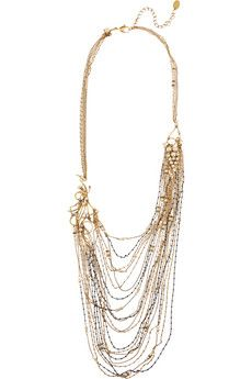 Erickson Beamon Grapes of Wrath gold-plated, Swarovski crystal and faux pearl necklace | NET-A-PORTER