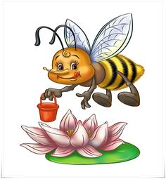 View album on Yandex. Colorful Pictures, Art Pictures, Bee Clipart, Deco Paint, I Love Bees, Cute Bee, Bullet Journal Art, Bee Art, Arte Pop